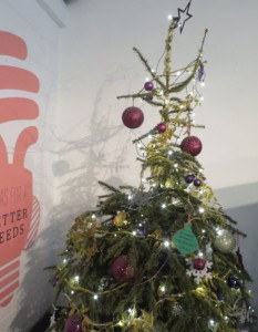 job security Christmas bauble on the LUU Christmas tree