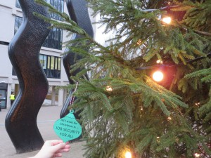 job security guerilla bauble at the wavy lines tree