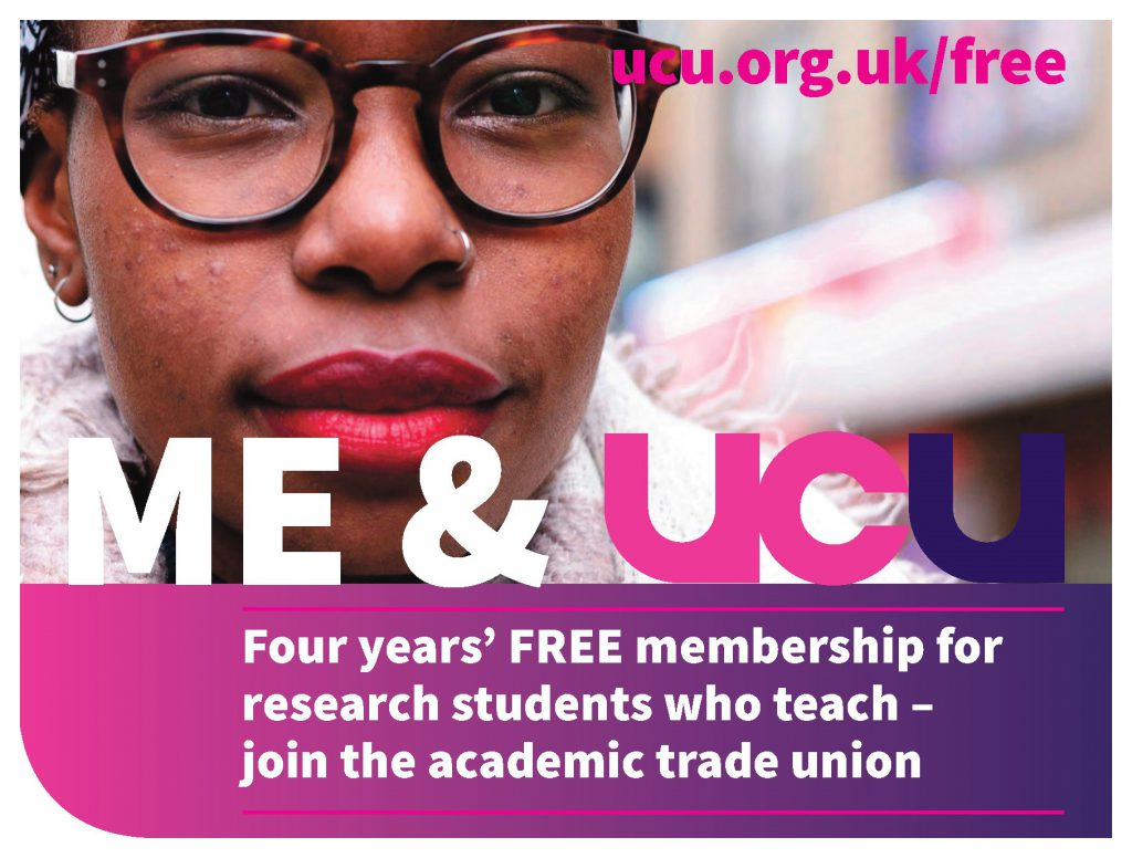 Four years' free membership for postgraduate research students who teach