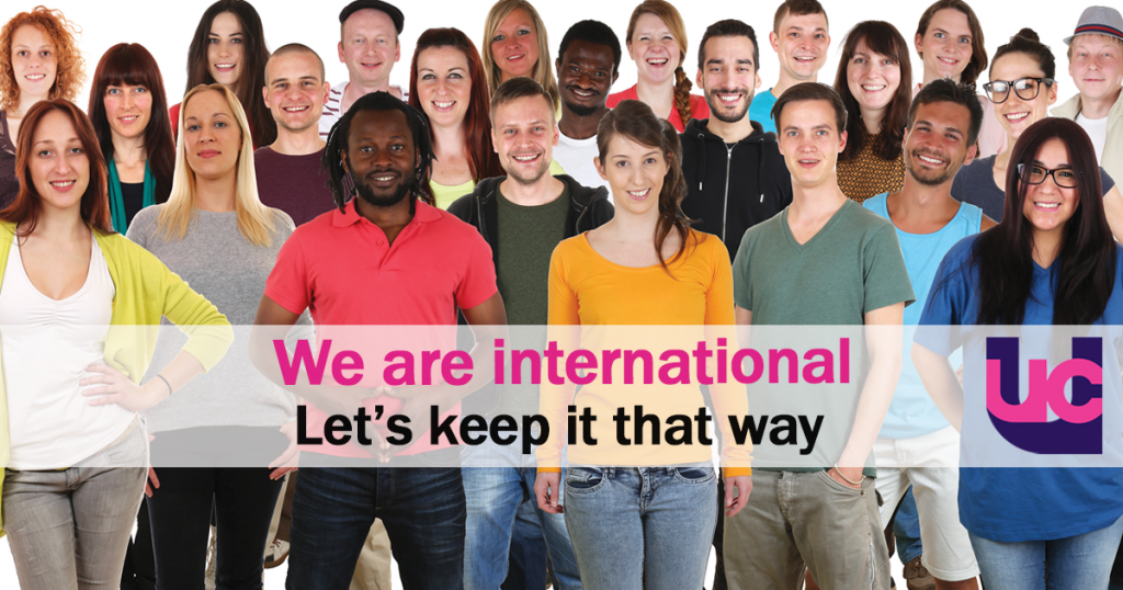We are international. Let's keep it that way.