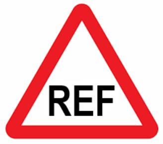 REF in warning triangle